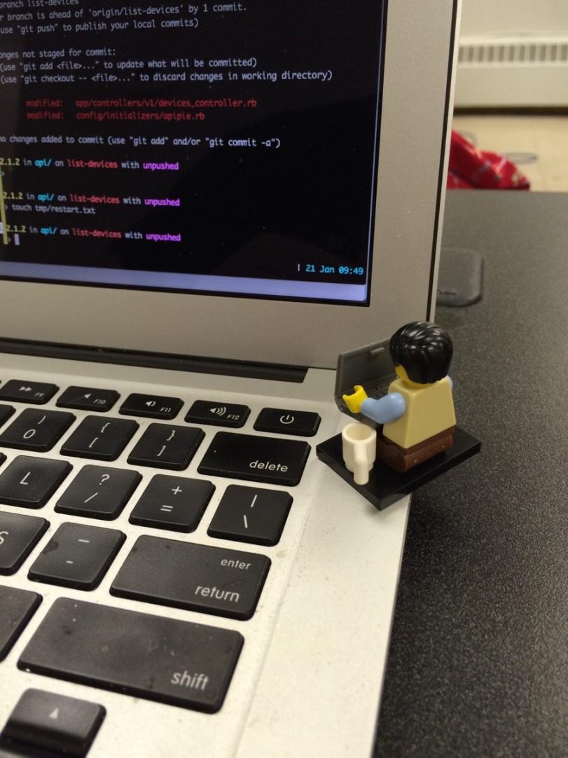Coder gotta code!